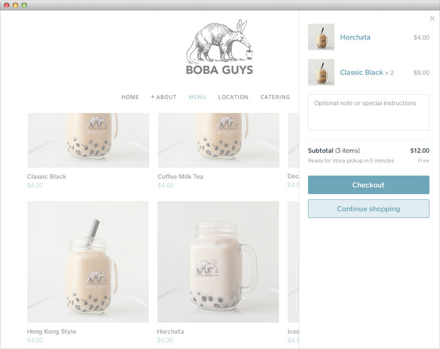 Boba Guys Menu