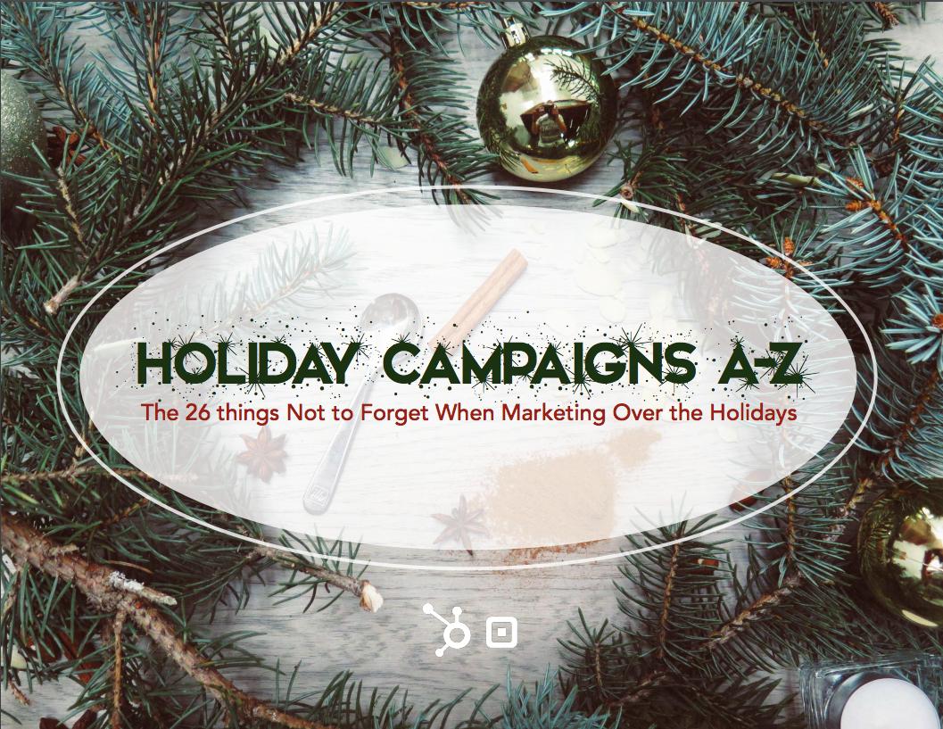 Holiday marketing ebook - 26 top marketing tips