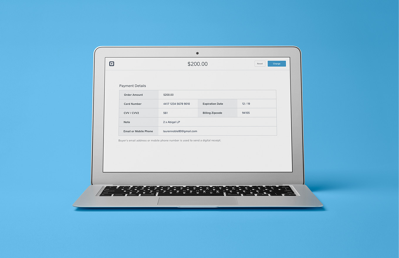 Square's virtual terminal: Take credit card payments on your computer